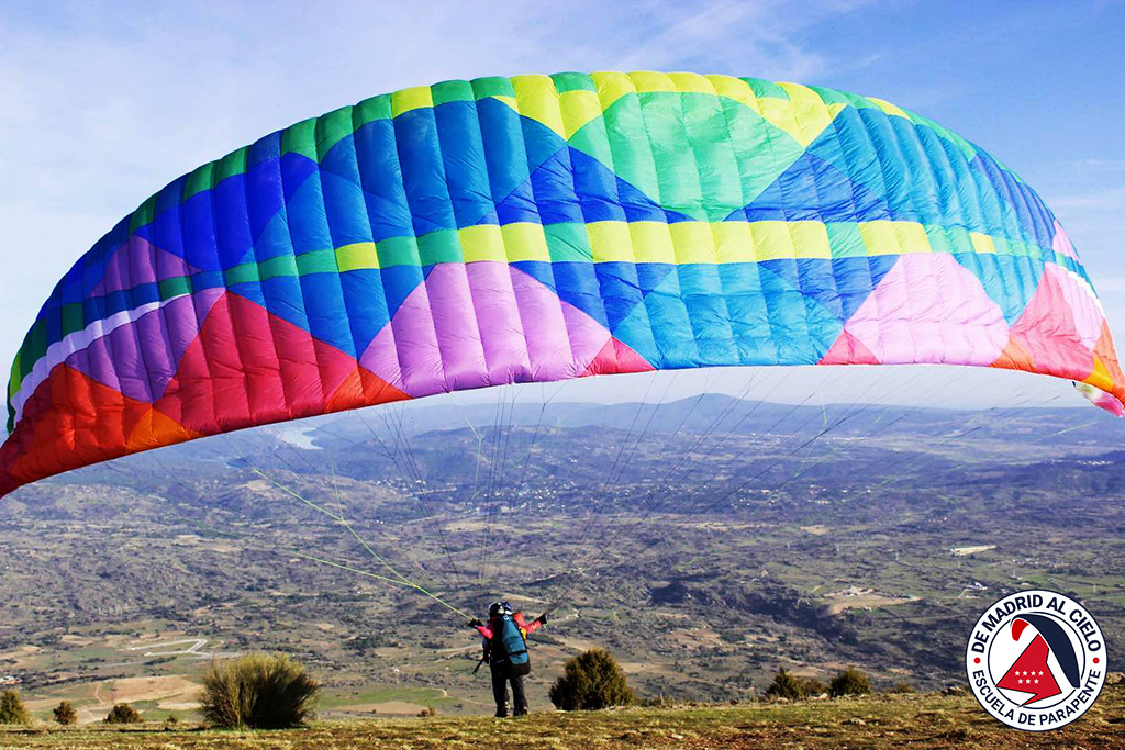 Despegue de parapente